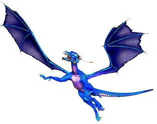 flying blue dragon