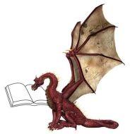 Dragon reading book