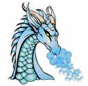 Dragon with smoke bubbles