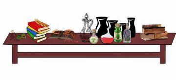 Table set for spellcasting