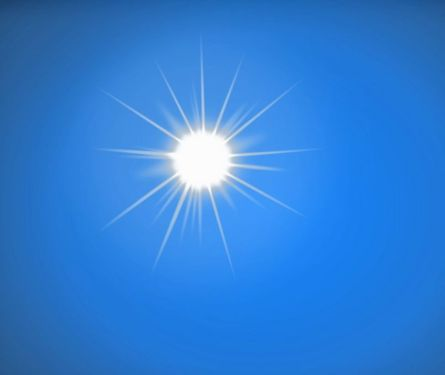 sun in cloudless sky