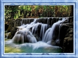 waterfall - framed
