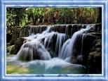 waterfall - framed