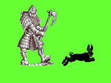 Dwarf and rabbit 2