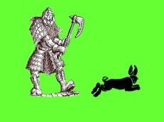 Dwarf and rabbit 2