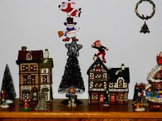 Christmas village and decorations (15)