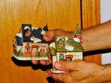 Miles took the miniature houses