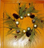 Placed the wreath on the closet door
