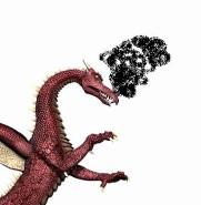 Dragon with smoke