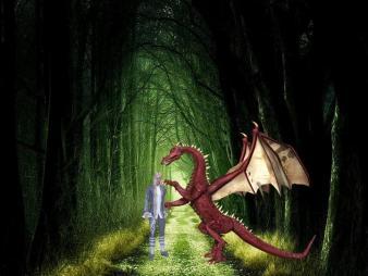 dragon stops the elf