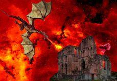 Dragonfire destroying