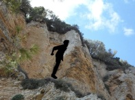 Going into cliff wall