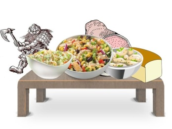 Dwarf and food