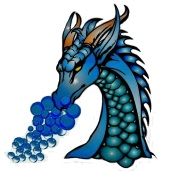 Very blue dragon