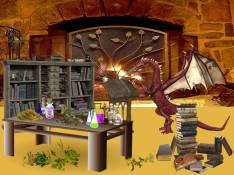 Dragon doing research