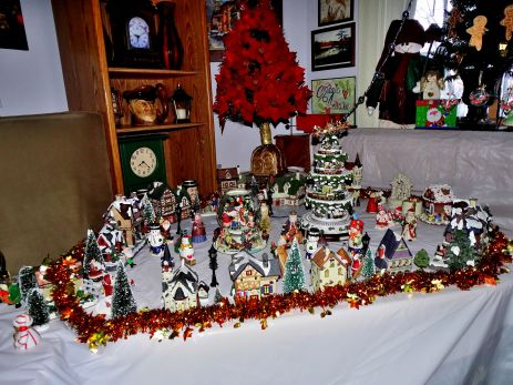 Christmas village and decorations 1