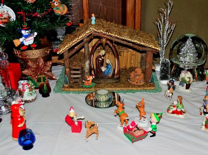 Christmas village and decorations 25
