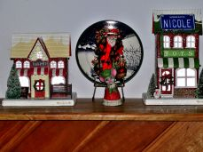 Christmas village and decorations 9