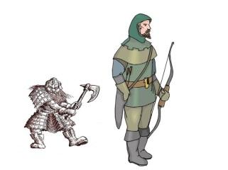 Dwarf and Bounty Hunter