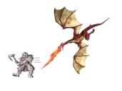 Dragon chasing Old Dwarf
