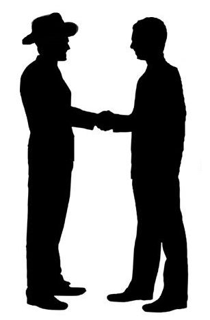 warm handshake