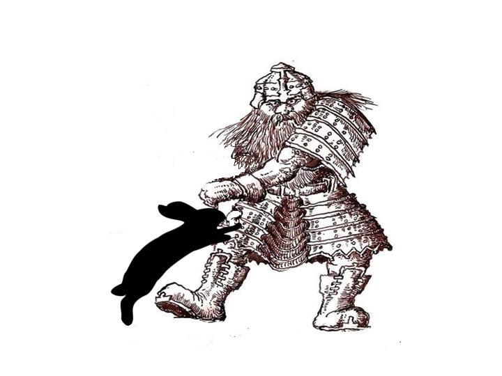 Dwarf petting bunny