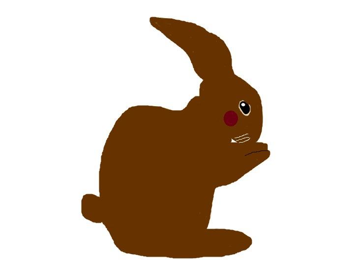 Rabbit looking embarrassed