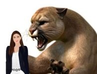 snarling cougar